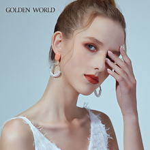 Earrings 2019 new fashion net red super fairy temperament Mori Pearl Hyun-a Kim wind sterling silver earrings women