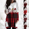 Hot Sale Women's Christmas Color Matching Print Long-sleeved Sweatshirt Casual Blouse Winter Korean Style Hoodies Women F 1