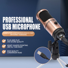 podcast microphone professionnel USB Condenser Recording  studio equipment Cardioid Microphone with Stand For Laptop youtube mic