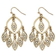 FIAZIA Large Drop Earrings For Women Jewelry Accessories Statement Bijou Silver Gold Metal Dangle Earrings Leaf Tassels Earring