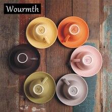 1 шт набор матовых кофейных чашек и блюдец в скандинавском стиле