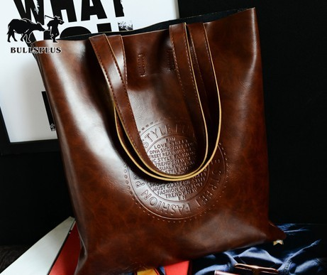 New European And American Fashion Embossed Handbag Bucket Crown Leather One Shoulder Women's Bag