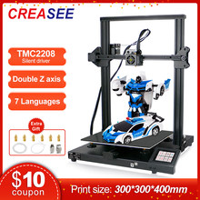 Creasee fdm alumínio quadro impressora 3d grande tamanho kit diy 300x300 com 3.5 Polegada tela de toque impressão 3d retomar falha de energia
