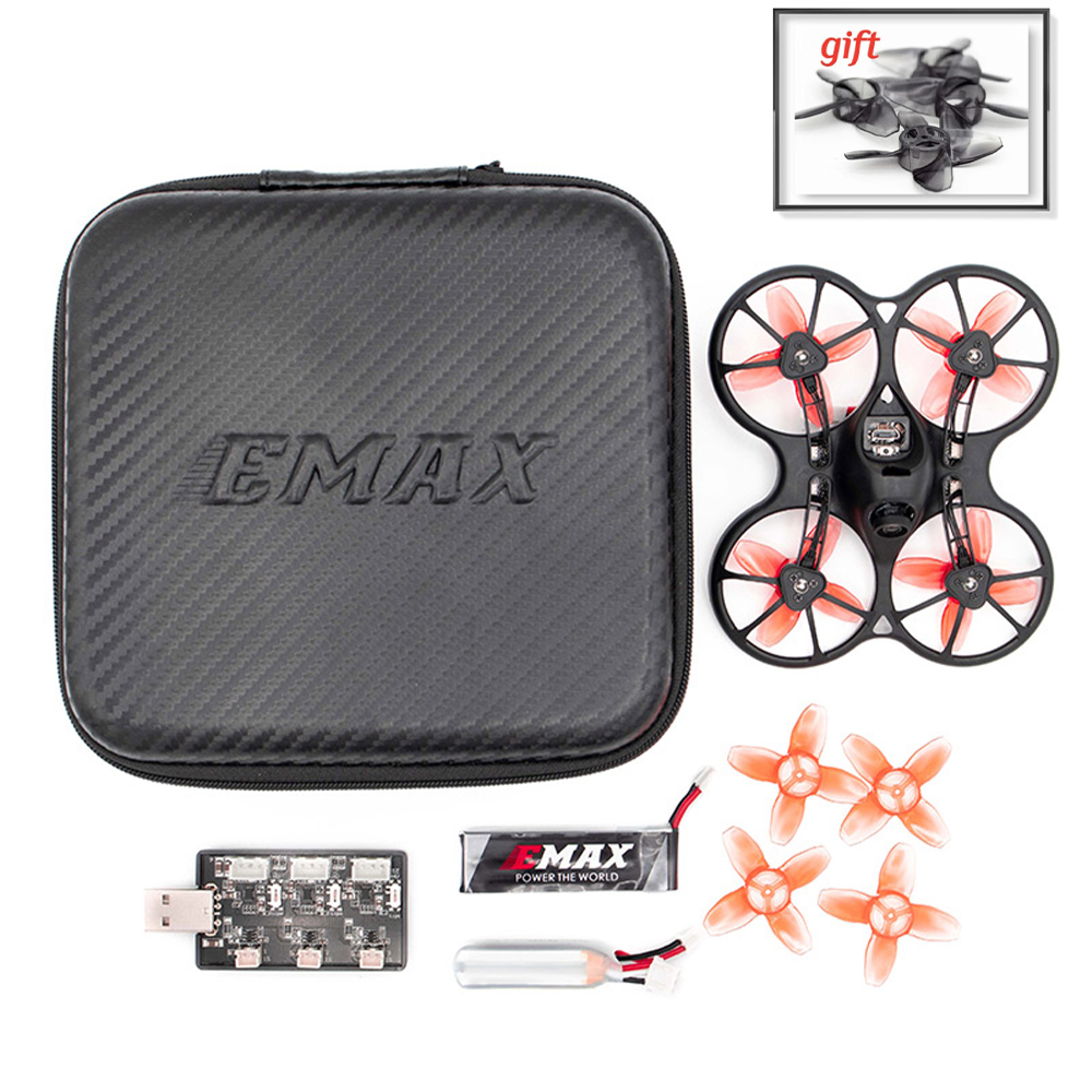 Emax 2S Tinyhawk S FPV Racing Drone Kit With Camera 0802 15500KV Brushless Motor Support 1/2S Battery RC Plane with gift-in RC Airplanes from Toys & Hobbies