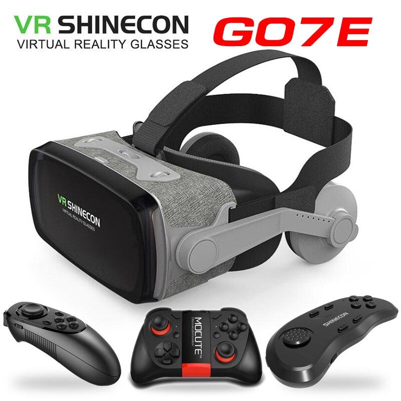 Очки виртуальной реальности Shinecon VR для любителей игр, очки виртуальной реальности 3D, очки Google Cardboard, VR гарнитура для смартфонов 4,0 6,53 дюймов