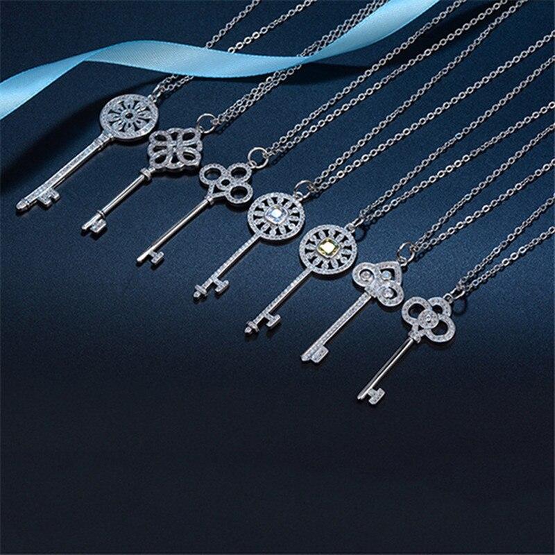 925 Sterling Silver Multi Color CZ Infinity Love Pendentif Charme Collier