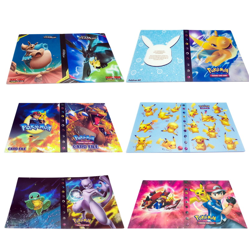 Коллекции покемонов, карточки, альбом, книга, держатель, Лидер продаж, список игрушек, подарок