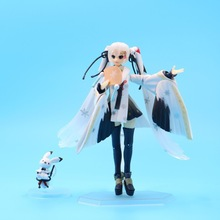Anime Hatsune Miku PVC Action Figure Collectible Model doll toy 15cm figma 045# 2017 anime legend of zelda link with skyward sword figma 153 pvc action figure collection model kids toy doll brinquedos