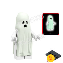 Kids Toys Free-Block-Base Ghost-Action-Figures Halloween One-Pieces Building-Blocks Small-Bricks