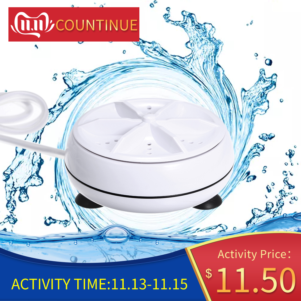 Mini Washing Machine Portable Personal Rotating Turbine Washer Convenient For Travel Home Business Trip