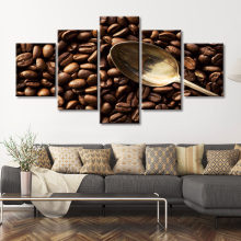 Moderne Foto Koffieboon Foto Canvas Schilderij Wall Art Kitchen Decor Home Decor Hd Prints Poster(China)