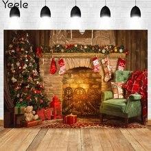 Yeele Счастливого Рождества автомобиля камин фон для фотосъемки