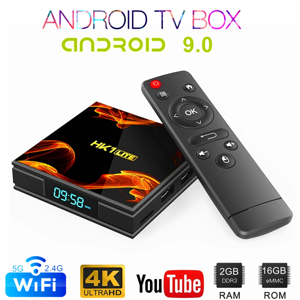 4K  Android TV Box Android 9.0 Media Player  OTT Box  Quad Core Cortex A7 Set Top Box