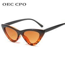 OEC CPO 2019 New Fashion Cat eye Sunglasses Women Brand Designer Luxury Triangle Sun glasses Female Vintage Eyeglasses O171