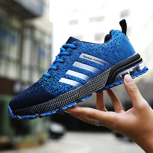 Autumn Flyknit Breathable Men Air Running Shoes Bounce Sneakers Lightweight Keep