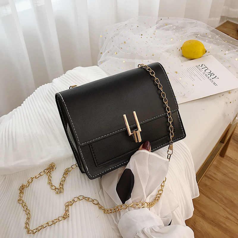 2020 Trend w modzie nowych kobiet torby PU Leather Crossbody wieczorne sprzęgło torebka metalowy pasek na ramię małe torebki dużego ciężaru