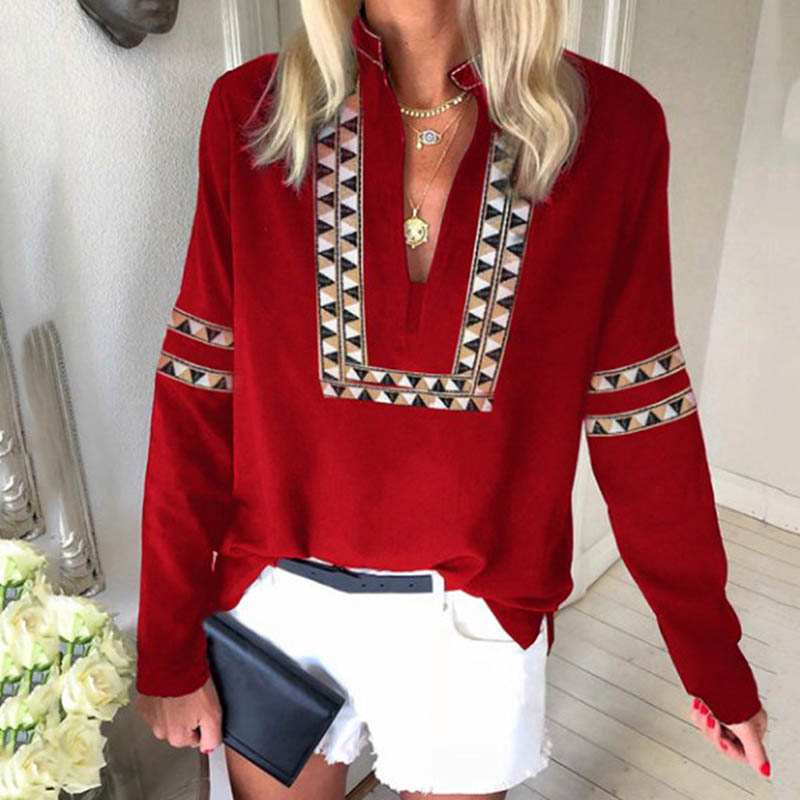 Vintage Blouse Women Shirt 5XL Print Long Sleeve Fashion Woman Blouses 2020 Womens Tops and Blouse Feminine Female Shirts Plus