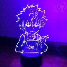Luz led para crianças quarto decoração hxh led night light anime presente acrílico neon 3d lâmpada killua bonito