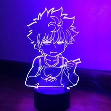 Led Light for Kids Bedroom Decor Hxh Led Night Light Anime Gift Acrylic Neon 3d Lamp Killua Cute