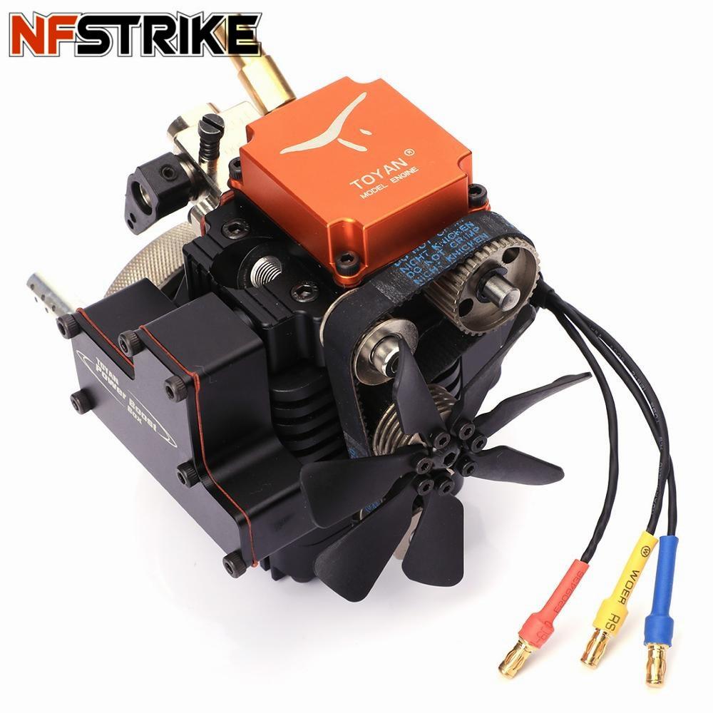 Motor modelador de metanol de cuatro tiempos TOYAN con Motor de arranque para 1:10 1:12 1:14 RC coche avión-in Kits de construcción de maquetas from Juguetes y pasatiempos    1