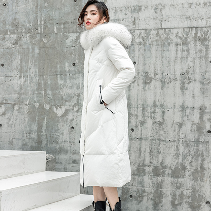 White Women Jacket Duck Down Coat Long Down Jacket Winter Coat Women Korean Puffer Jacket Chaqueta Mujer 6821 YY1320