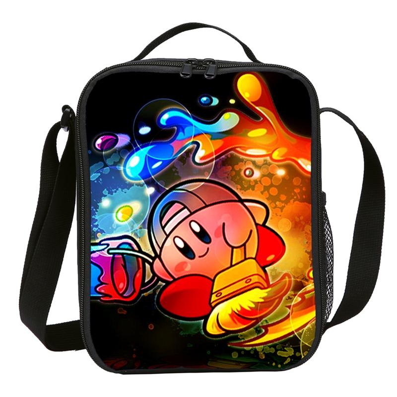Image 3 - Mini Lunch Bag Kids Boys Girls Fashion Cute Cartoon Anime Kirby 3D Printing Ice Bag Insulated Thermal Picnic Lunchbox Sac A MainLunch Bags   -
