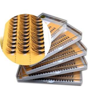 Image 4 - Новые 60 пряди для наращивания ресниц с индивидуальным кластером, длина 0,1 мм, толщина 6 14 мм