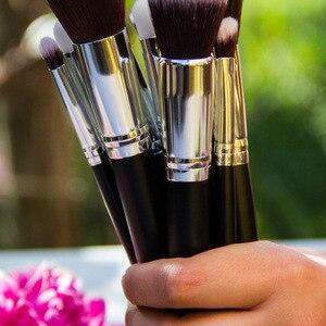 Image 5 - MAANGE 6 15Pcs Makeup Brushes Set Powder Foundation Eyeshadow Cosmetic Make Up Brush With PU Leather Case Beauty Tool Kit