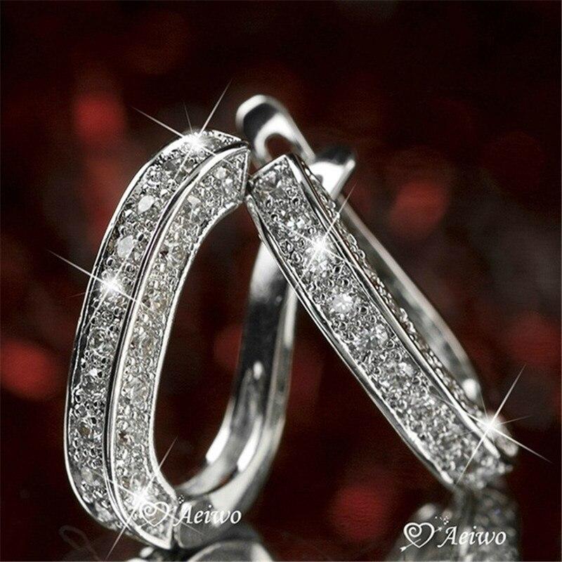 Boucles d'oreilles de luxe femme goutte AAAAA cz 925 en argent sterling breloque déclaration fête de mariage boucles d'oreilles pour les femmes bijoux de mariée