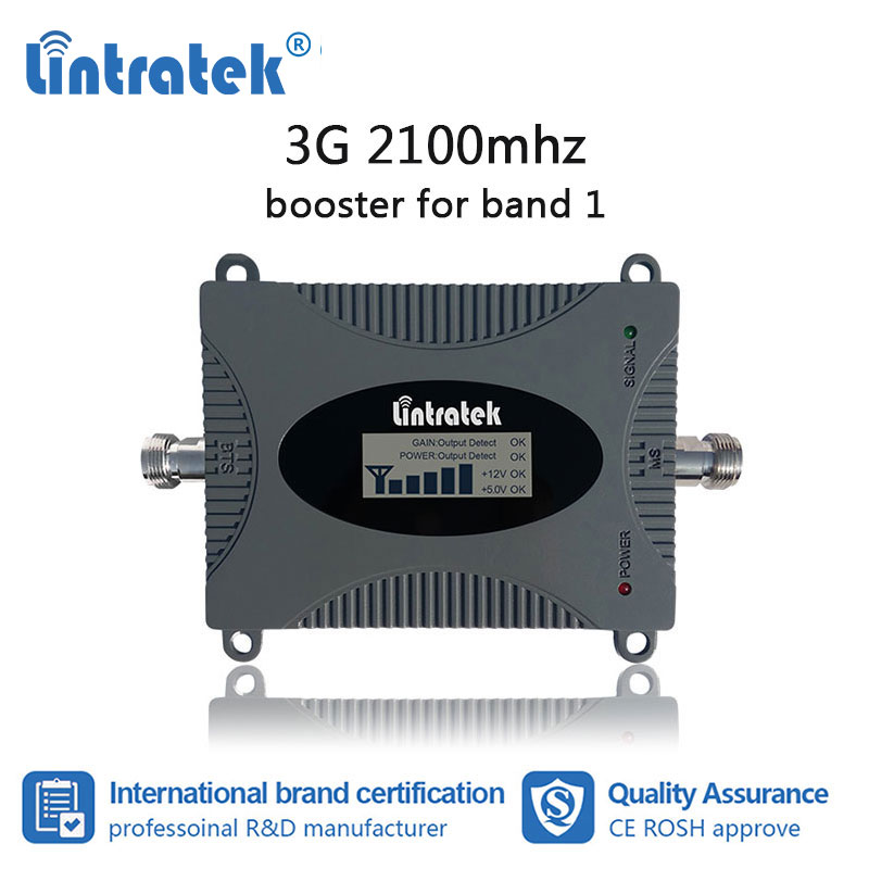 Lintratek 3G Cellular Booster 2100MHz Cell Phone Signal Repeater Internet Data Communication Amplifier 2100 WCDMA LCD