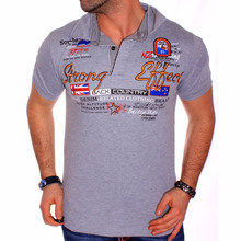 Clothing Polo-Shirt Tops Short-Sleeve Casual Mens Summer Hot Letter ZOGAA Tees Wear Printed