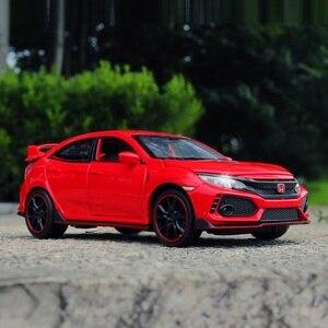 Image 2 - 高シミュレーション絶妙なdiecastsおもちゃ車: miniauto車スタイリングホンダシビックタイプr 1:32合金ダイキャストモデルベストギフト