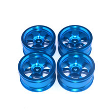 4Pcs Aluminium Alloy Wheel Hubs for HSP HPI Team Losi Hongnor Kyosho Tamiya LRP 1/10 RC Drift Car oil adjustable 68mm alloy aluminum shock absorber damper for rc car 1 10 on road drift car hpi hsp traxxas losi axial tamiya
