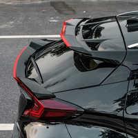 Spoiler traseiro tronco lábio asa capa para toyota chr 2018 acessórios abs exterior da cauda do carro spoiler para toyota C-HR 2017 2018 2019
