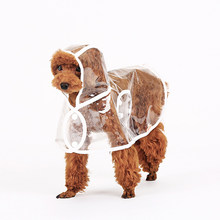 Transparent Poncho Small Dog Raincoat Pet Summer Waterproof Clothes Pet Roupa Hooded Cape Poncho Regenjas Dog Product DD6YY(China)