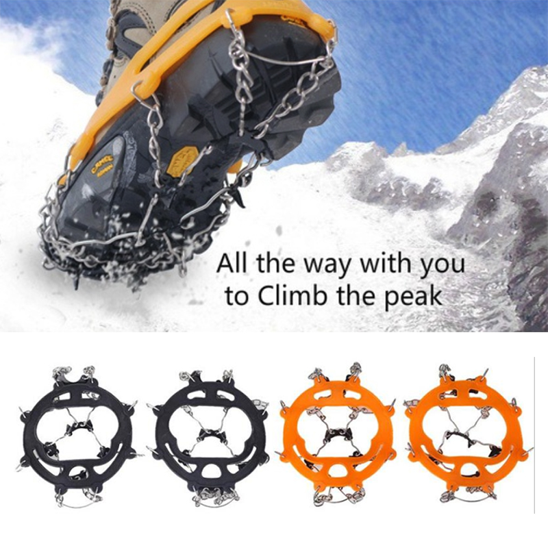 Crampons Durable Practical Black/White Rock Claws Part Climbing Cover Accessories Tool Anti-Skid Chain Shoe Iron Outdoor