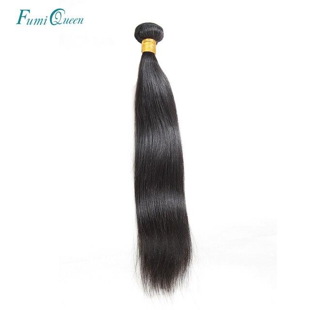 Ali Fumi Queen Brazilian Straight Hair Weave Bundles 100% Human Hair Bundles Non-Remy Hair Natural Color Hair Weaves Extensions