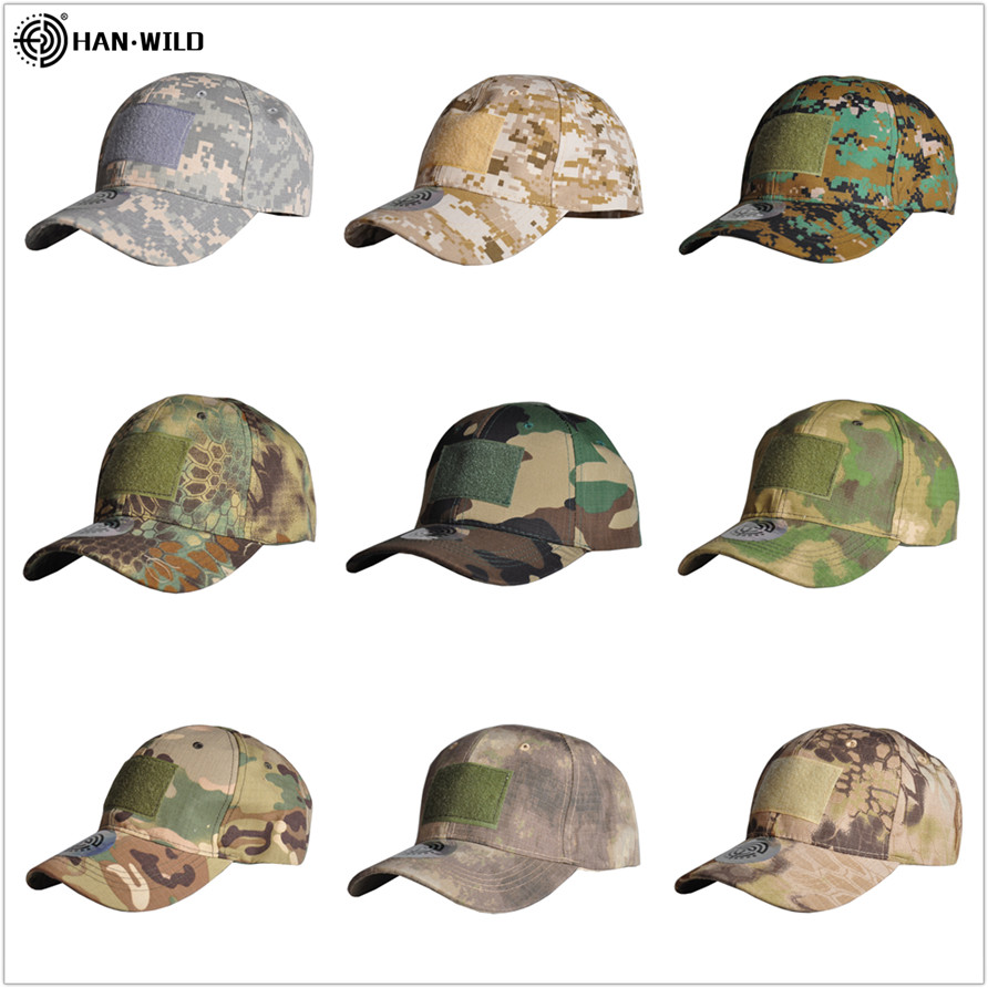 HAN WILD Camouflage Hat Baseball Caps Outdoor Sport Caps Hunting Cap Simplicity Tactical Military Army Camo Hats Embroidery Cap