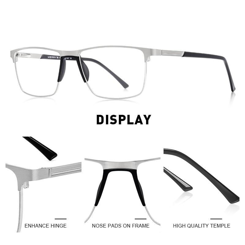 MERRYS DESIGN Anti luce blu blocco uomini occhiali da lettura CR-39 resina asferica occhiali lenti + 1.00 + 1.50 + 2.00 + 2.50 S2001FLH 2