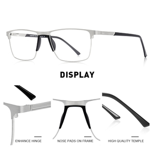 Image 2 - MERRYS DESIGN Men ไทเทเนี่ยมกรอบแว่นตาแฟชั่นชายสแควร์ Ultralight สายตาสั้นแว่นตา S2001