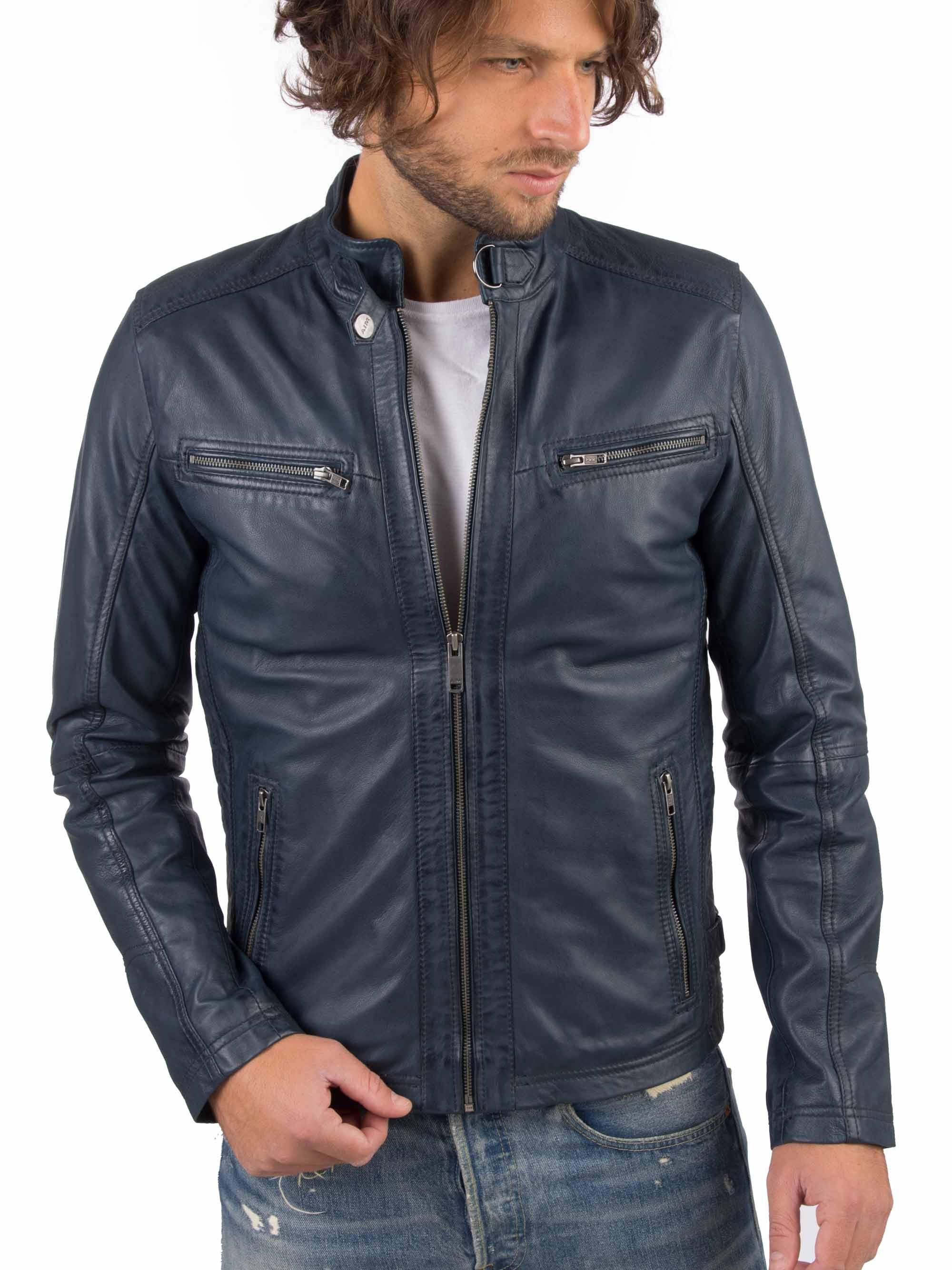H91b6a51fbf3c463bbf469ca2eaae1c84e VAINAS European Brand Mens Genuine Leather jacket for men Winter Real sheep leather jacket Motorcycle jackets Biker jackets Alfa