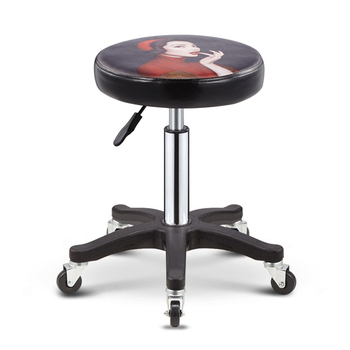Beauty Stool Barber Shop Chair Rotating Lift Round Stool Hair Dresser Stool Nail Stool Pulley Beauty Bed Round