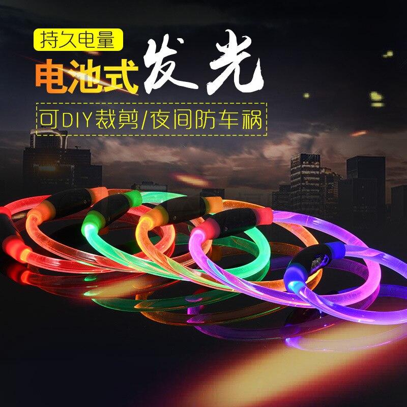 Pet Dog Collar LED Charging Quintana Luminous Circle Night Light Collar Night Flash Shining Dog USB Neck Ring