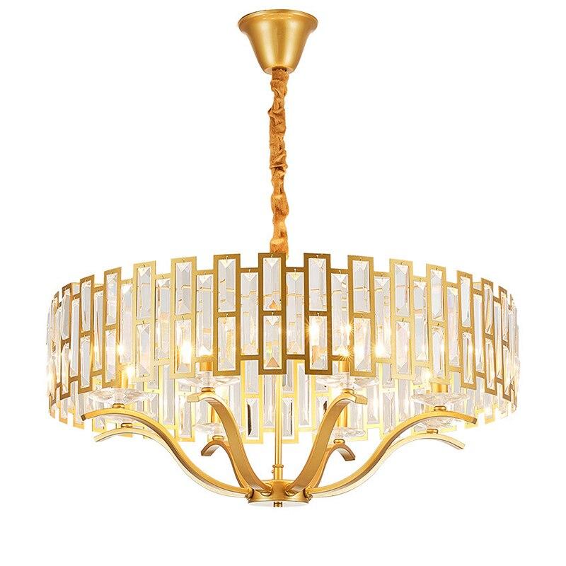 Luxus K9 Kristall Kronleuchter Beleuchtung Wohnzimmer Gold Hängen Lichter Nordic Schlafzimmer Anhänger Lampe Dining Leuchten Lampara Para