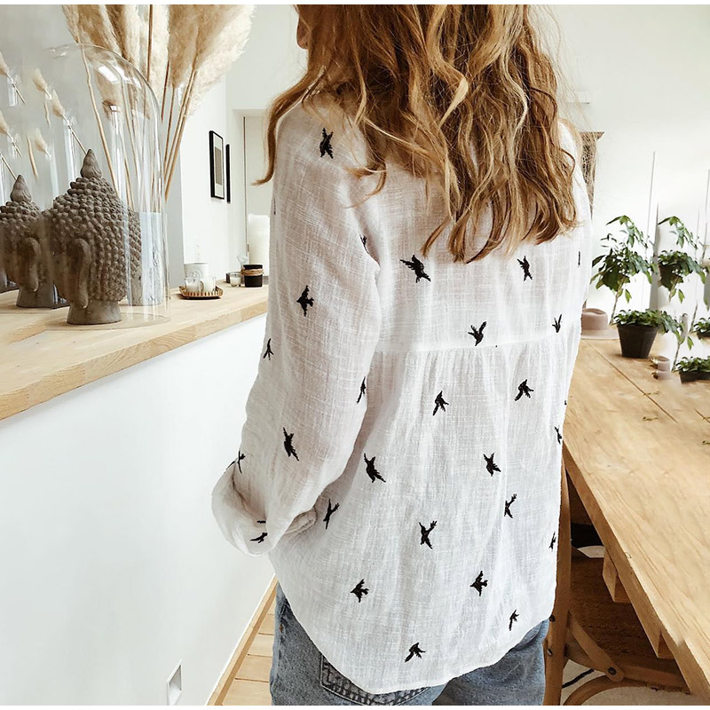2020 New Fashion Spring Summer Loose Casual Ladies Shirt Long Sleeve Animal Print Blouse Casual Loose Office Shirt Plus Size 5XL Women Women's Blouses Women's Clothings