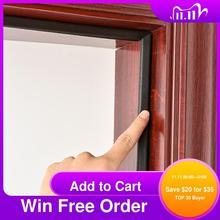 Pu foam sound proof door strip self adhesive V type sealing strip weather stripping door seal strip for window and door