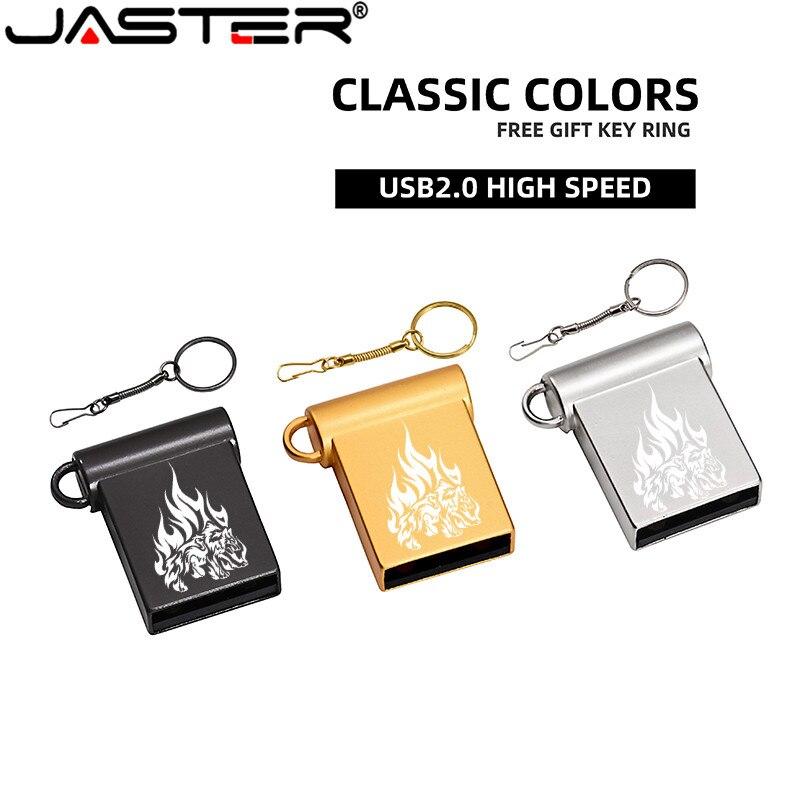 JASTER Mini USB 2.0 Flash Drives 64GB 32GB 16GB Usb Stick Gemakkelijk Te Grote Capaciteit Usb Flash Drive 128GB