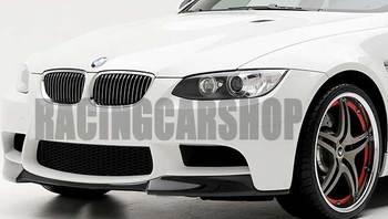 V STYLE REAL CARBON FIBER FRONT LIP SPOILER for BMW 3-SERIES E90 E92 E9X M3 BUMPER 2007-2013 B087 1