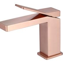 Современный из розового золота, для ванной раковина-умывальник дизайнерский смеситель для установки на палубе