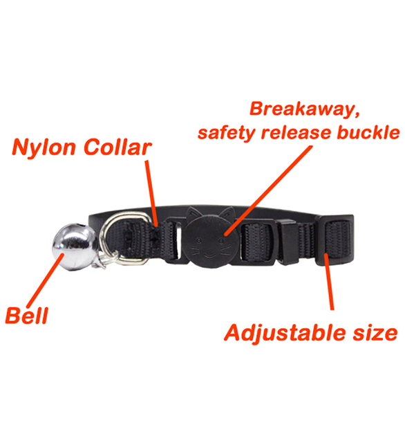 Personalized ID Free Engraving Cat Collar Safety Breakaway Small Dog Cute Nylon Adjustable for Puppy Kittens Necklace 4